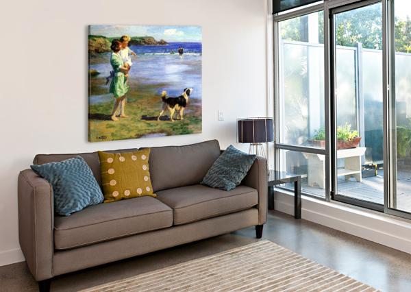 SUMMER PLEASURES EDWARD HENRY POTTHAST  Canvas Print