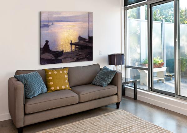 FISHERMAN IN THE SUNSET EDWARD HENRY POTTHAST  Canvas Print