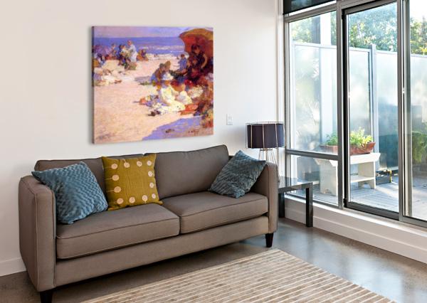 PICKNICKERS ON THE BEACH EDWARD HENRY POTTHAST  Canvas Print