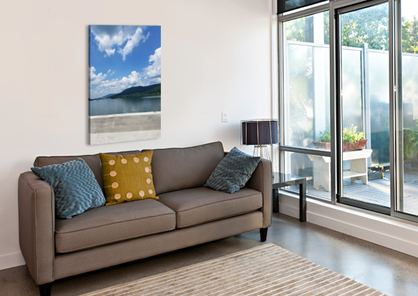 LOOKING OUT OVER WATER M-S-B  Canvas Print