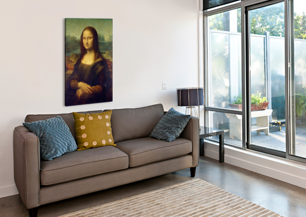 MONA LISA LEONARDO DA VINCI LA GIOCONDA OIL PAINTING STOCK PHOTOGRAPHY  Canvas Print