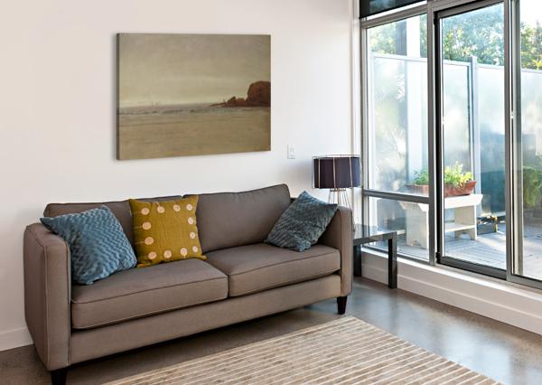 BEACH AND ROCKS THOMAS WORTHINGTON WHITTREDGE  Canvas Print