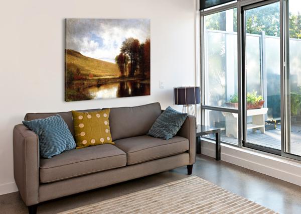 AUTUMN ON THE DELEWARE THOMAS WORTHINGTON WHITTREDGE  Canvas Print
