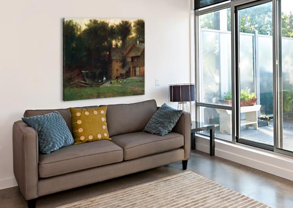 THE MILL, SIMSBURY THOMAS WORTHINGTON WHITTREDGE  Canvas Print