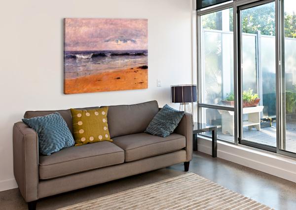 SEASCAPE BY THE BEACH THOMAS WORTHINGTON WHITTREDGE  Canvas Print