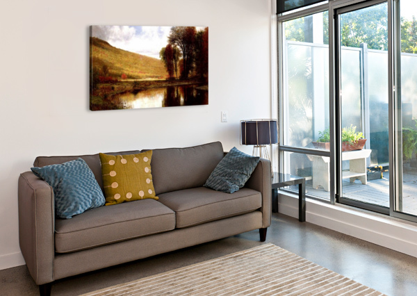 LANDSCAPE WITH A LAKE THOMAS WORTHINGTON WHITTREDGE  Canvas Print