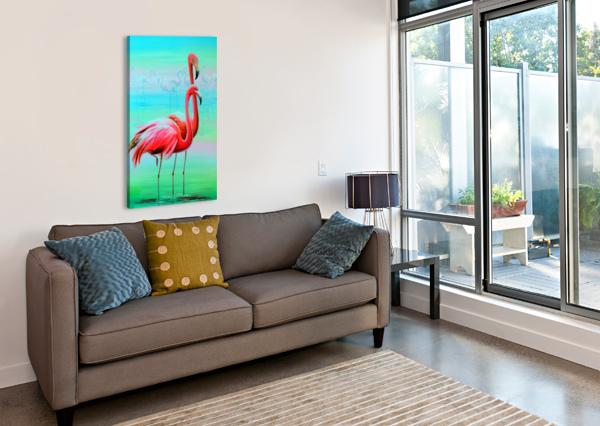 Фламинго на рассвете  OLHA DARCHUK   Canvas Print