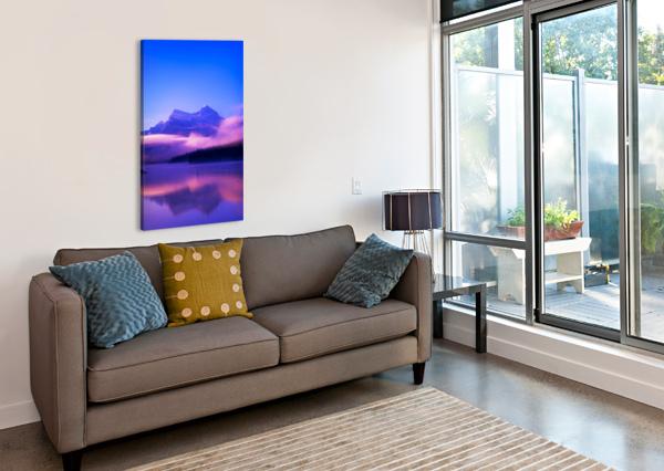 MALIGNE LAKE, JASPER NATIONAL PARK, ALBERTA, CANADA PACIFICSTOCK  Canvas Print