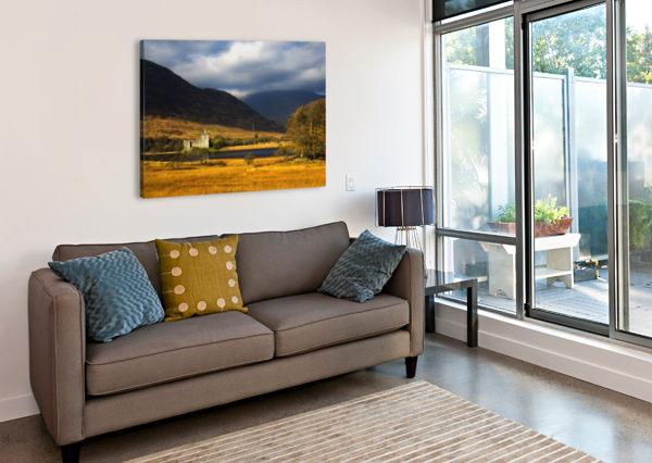 KILCHURN CASTLE, LOCH AWE, SCOTLAND PACIFICSTOCK  Canvas Print