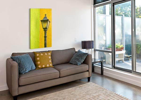 LA CRUCECITA CITY, BAHIAS DE HUATULCO, OAXACA STATE, PACIFIC COAST, MEXICO; LAMP IN PACIFICSTOCK  Canvas Print