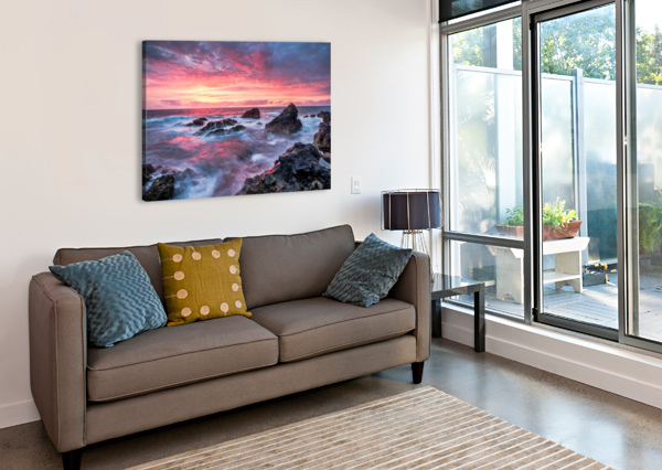 COLORFUL SUNSET AT WILD COAST ON THE CANARY ISLANDS ANDREAS WONISCH  Canvas Print