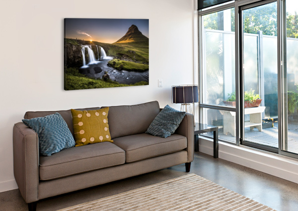 FAIRY-TALE COUNTRYSIDE IN ICELAND ANDREAS WONISCH  Impression sur toile