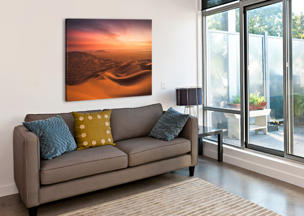 SUNSET IN THE DESERT ANDREAS WONISCH  Canvas Print