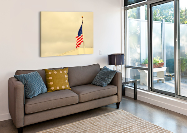 AMERICAN FLAG CAMERON YOUNG  Impression sur toile