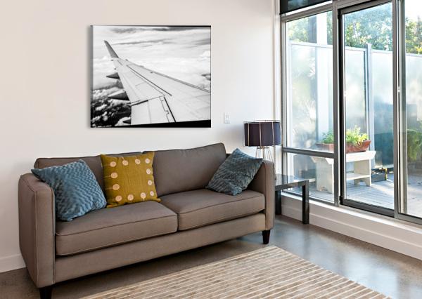 AIRPLANE WING BLAIR WRIGHT  Canvas Print