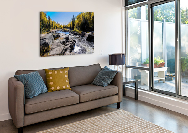 RIVER BED BLAIR WRIGHT  Canvas Print