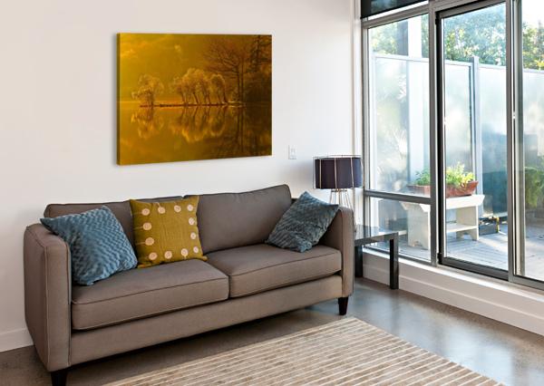 GOLD MORNING, LAKE DISTRICT, UK STEVE THOMPSON SUNSTORMPHOTOGRAPHY  Canvas Print