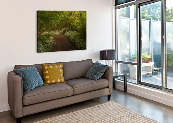 THE PATH TO FAIRYTALES, RAMSONS WOOD, LANCASHIRE, UK STEVE THOMPSON SUNSTORMPHOTOGRAPHY  Canvas Print