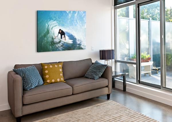 SURFER ON BLUE OCEAN WAVE PACIFICSTOCK  Canvas Print