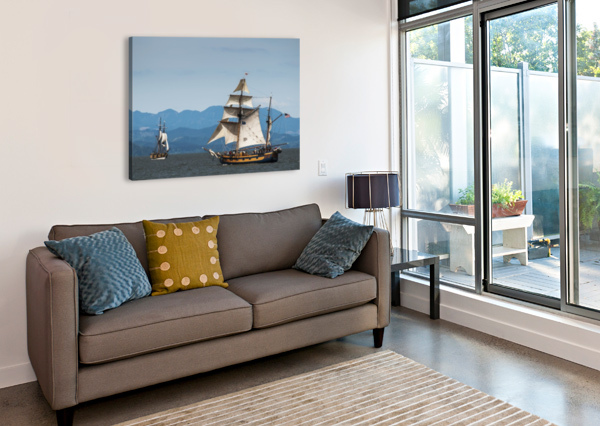 TALL SHIPS SAIL ON THE COLUMBIA RIVER NEAR ASTORIA; OREGON, UNITED STATES OF AMERICA PACIFICSTOCK  Canvas Print
