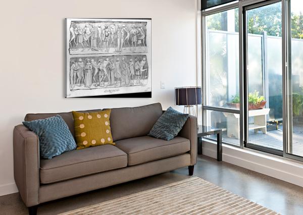 DANCE OF DEATH ADRIEN DAUZATS  Canvas Print