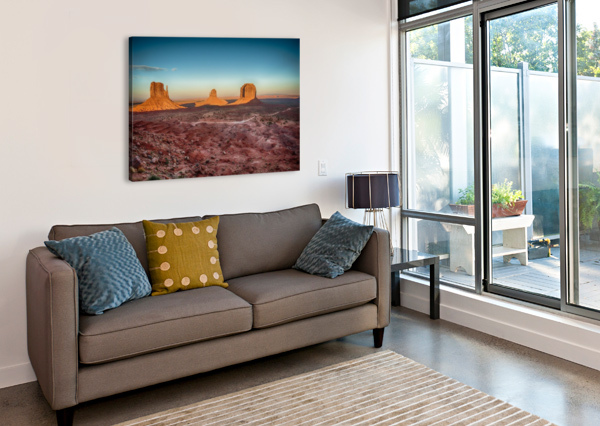 MONUMENT VALLEY HDR (16 OF 21) ANDREA SPALLANZANI  Canvas Print