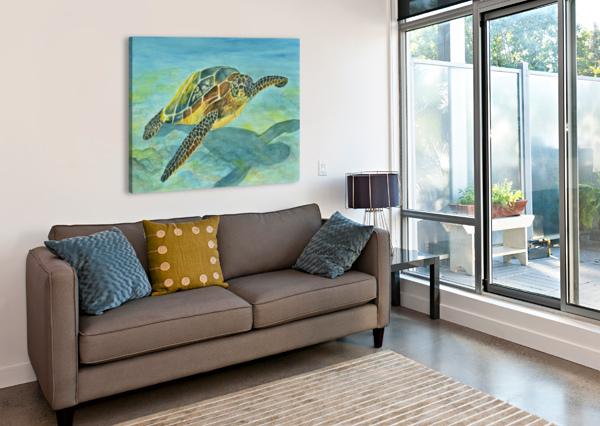 SEA TURTLE LINDA BRODY  Canvas Print