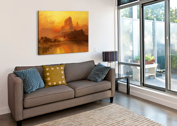 THE GOLDEN HOUR THOMAS MORAN  Canvas Print