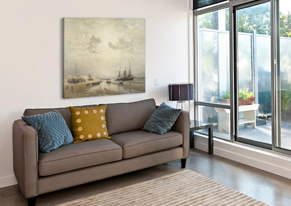 MANANA EN SCHEVENINGEN HENDRIK WILLEM MESDAG  Canvas Print
