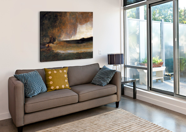 THE BAY OF RAPALLO CARL EDUARD FERDINAND BLECHEN  Canvas Print