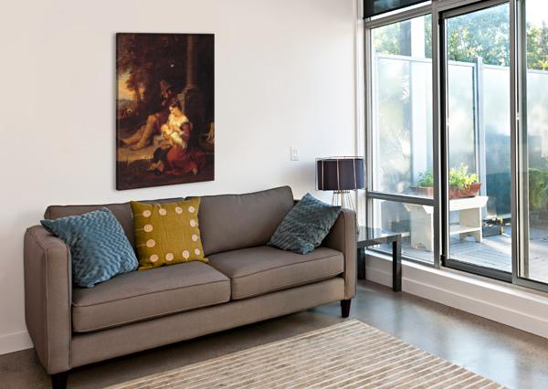 PILGRIMS REPOSING AT A CROSS PENRY WILLIAMS  Canvas Print