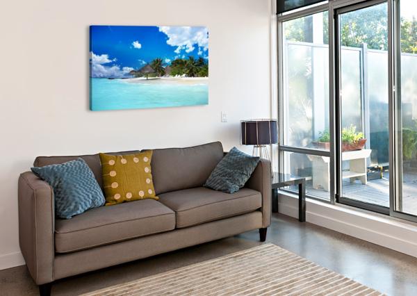 BEACH CASTELL MAYE  Canvas Print