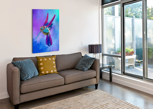 GLASS BIRD ABSTRACT  LINDA BRODY  Canvas Print