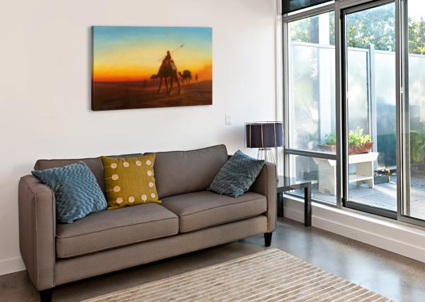 CARAVANNE AU COUCHE-SOL CHARLES-THEODORE FRERE  Canvas Print