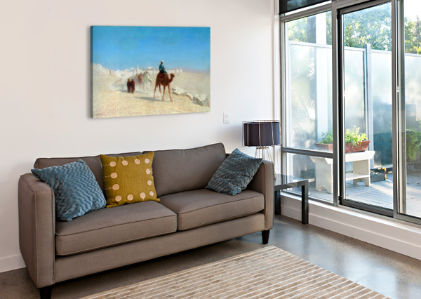 JERUSALEM COTE DE LA PORTE DE JAFFE CHARLES-THEODORE FRERE  Canvas Print