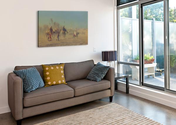 ARAB CARAVAN OUTSIDE CITY CHARLES-THEODORE FRERE  Canvas Print