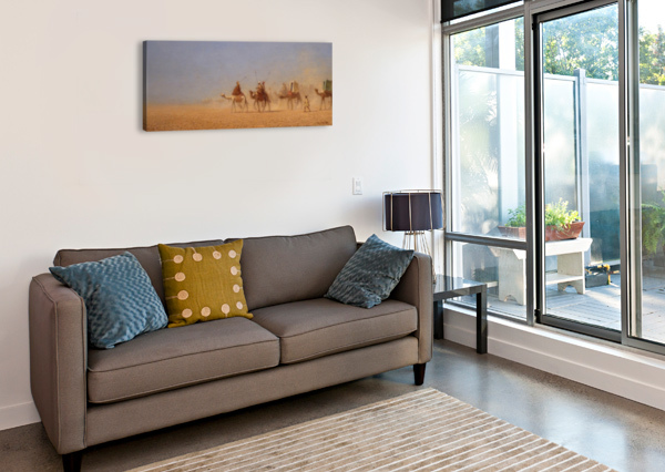 CARAVANES TRAVERSANT LE DESERT CHARLES-THEODORE FRERE  Canvas Print