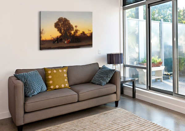 ARAB ENCAMPMENT AT SUNSET CHARLES-THEODORE FRERE  Canvas Print