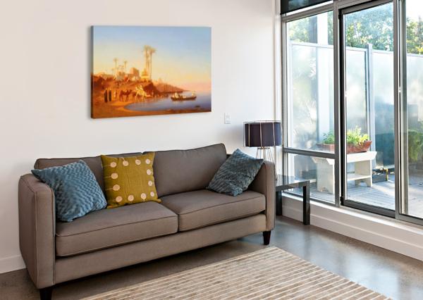 ARAB ENCAMPMENT OUTSIDE CITY CHARLES-THEODORE FRERE  Canvas Print