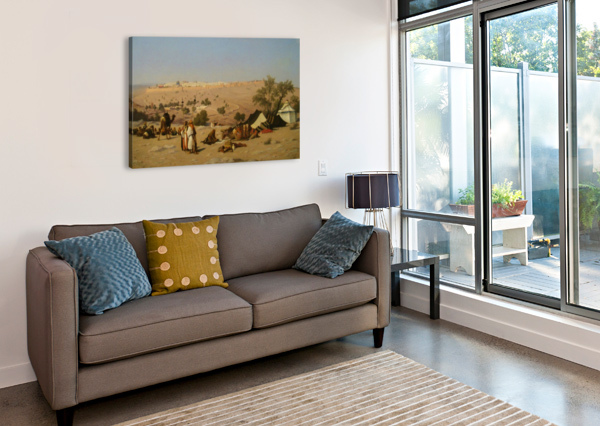 JERUSALEM FROM THE ENVIRONS CHARLES-THEODORE FRERE  Canvas Print