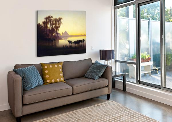 ALONG THE NILE AT GIZA CHARLES-THEODORE FRERE  Canvas Print