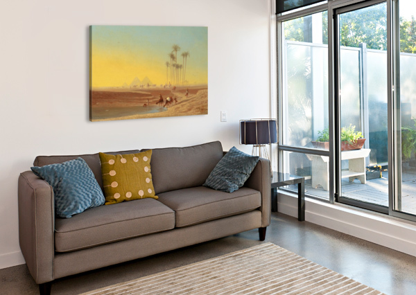 OASIS PRES DES PYRAMIDES CHARLES-THEODORE FRERE  Canvas Print