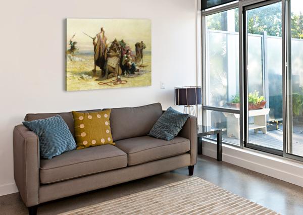 A BATTLE SCENE CARL HAAG  Canvas Print