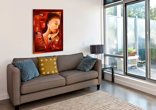 CASSELOPIA - VIOLIN DREAM CERSATTI ART  Canvas Print