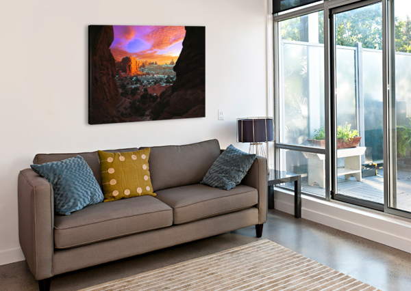 ROCKY BUTTES VIEWED THROUGH CANYON PACIFICSTOCK  Canvas Print