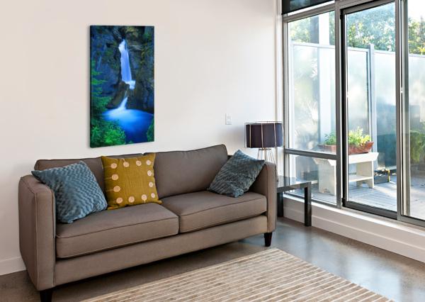 A BEAUTIFUL WATERFALL, JOHNSTON CANYON, BANFF, ALBERTA, CANADA PACIFICSTOCK  Canvas Print
