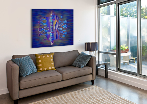 GRAFENONCI V5 - ABSTRACT BUTTERFLY CERSATTI ART  Canvas Print