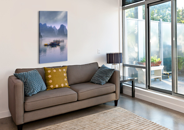JUNKS ON HALONG BAY PACIFICSTOCK  Canvas Print