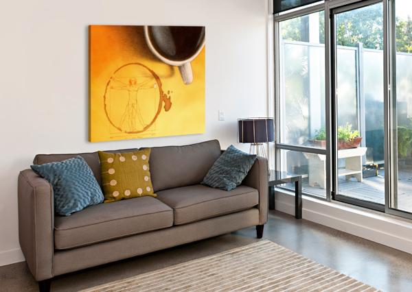 COFFEE MAN PAWEL KUCZYNSKI  Canvas Print