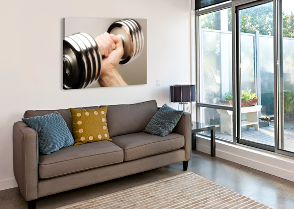 LIFTING WEIGHTS PACIFICSTOCK  Canvas Print